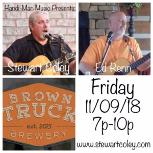 Brown Truck Brewery ~ High Point, NC (Duo Show) @ Brown Truck Brewery