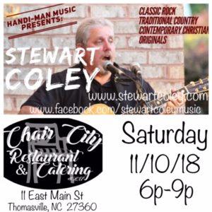 Chair City Tavern ~ Thomasville, NC (Solo Show) @ Chair City Tavern