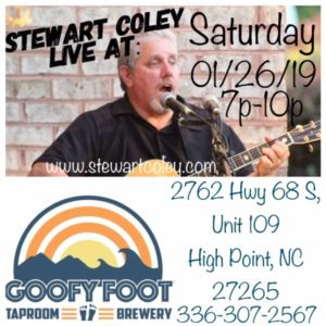 Goofy Foot Taproom ~ High Point, NC (Solo Show) @ Goofy Foot Taproom